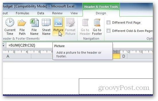 Watermark Excel 1