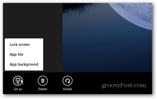 Windows 8 Photo Options