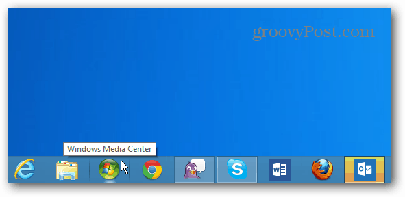 Windows Media Center icon Taskbar