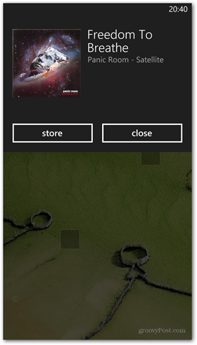 Windows Phone 8 Identify a Song That's Playing Result