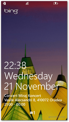Windows Phone 8 Lock screen quick status