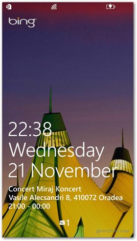 Windows Phone 8 Lock screen quick status
