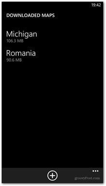 Windows Phone 8 available maps