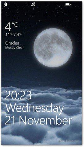 Windows Phone 8 customize lock screen HTC weather