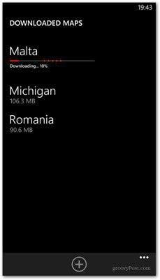 Windows Phone 8 map downloading