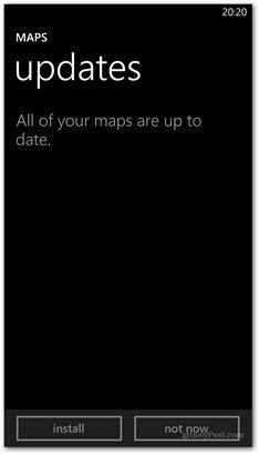 Windows Phone 8 maps update