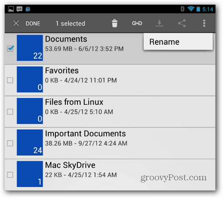 Windows SkyDrive for Android