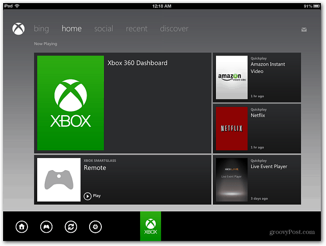 Xbox SmartGlass Dashboard