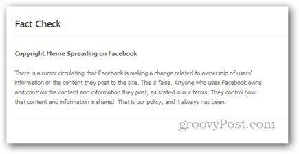 fact check facebook copyright