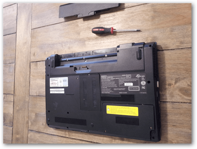detach battery