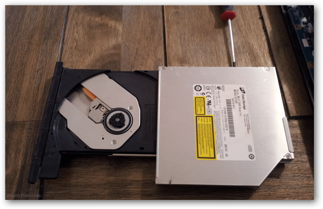 optical drive removed