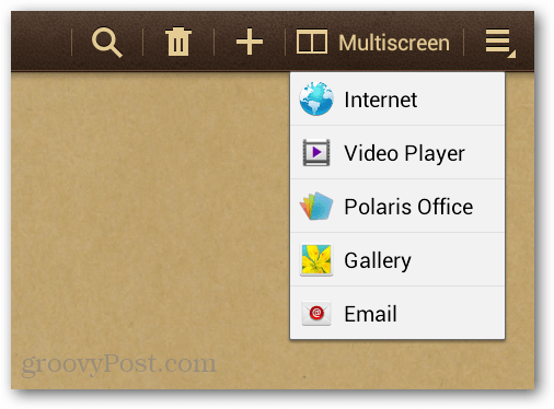 6 apps availble for multiscreen