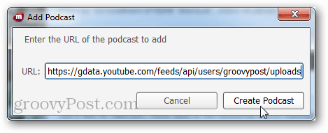 podcast url for groovypost