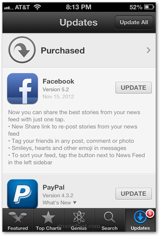 tag friends in facebook iphone app