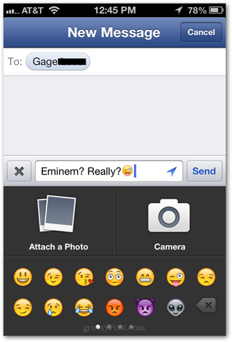 emoji native facebook app