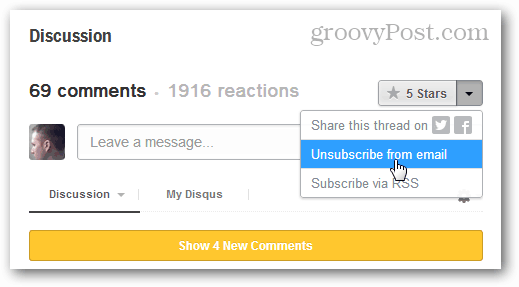 unsubscribe from disqus emails