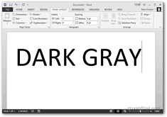 office 2013 change color theme - dark gray theme