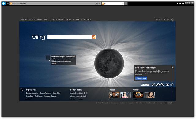 internet explorer 10 Preview Windows 7 Full Screen
