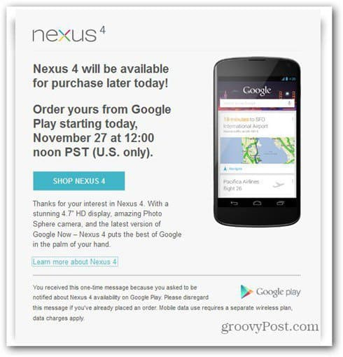 nexus 4 play store