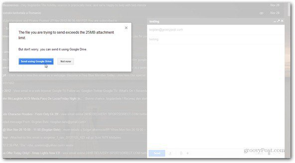 send using google drive