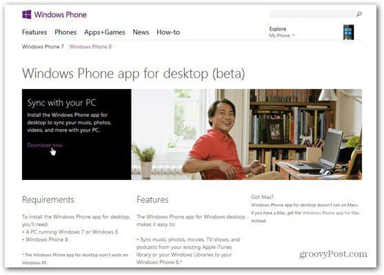 windows phone 8 software download