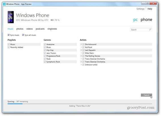 windows phone 8 windows phone app sync content