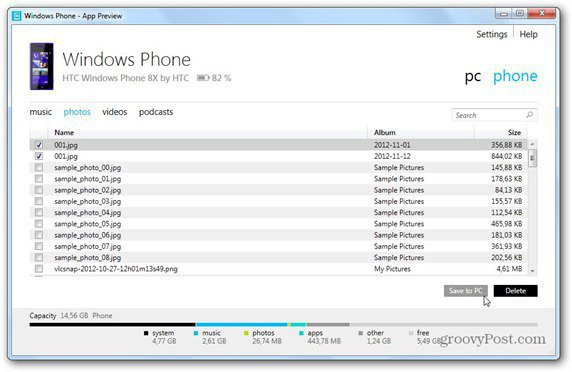 windows phone 8 windows phone app sync to pc