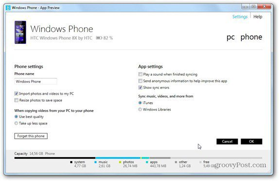 windows phone 8 windows phone settings