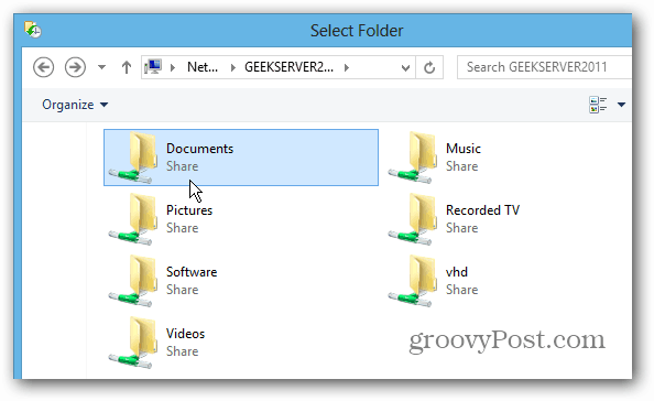 Browse to Server Location