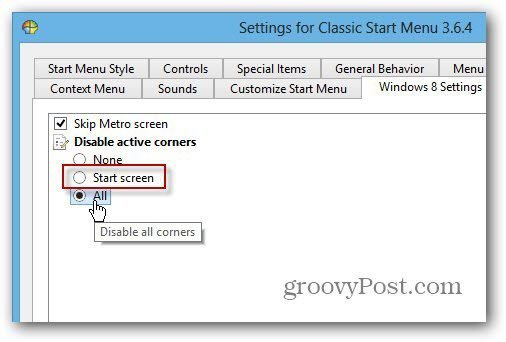 Disable SmartScreen Classic Shell