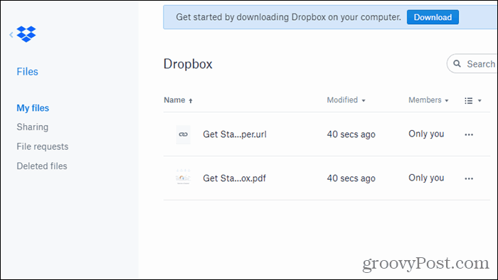 Dropbox for Chrome