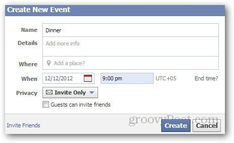 how to create scheduled post in facebook event