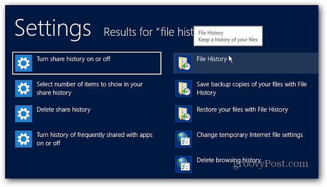File History in Search