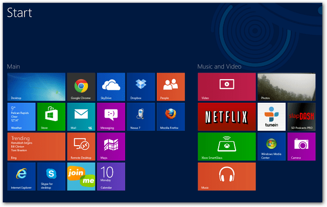 Four Windows 8 App Rows
