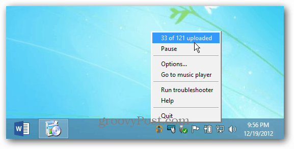 Google Music Manager Taskbar icon