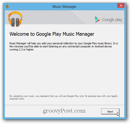 Install Google Music Manager