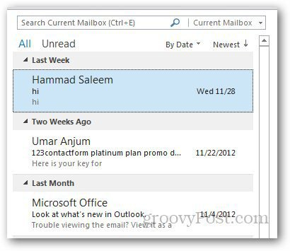 Message Preview Outlook 1
