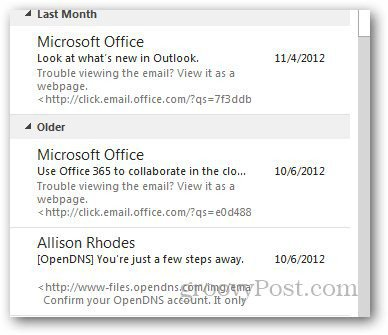 Message Preview Outlook 5