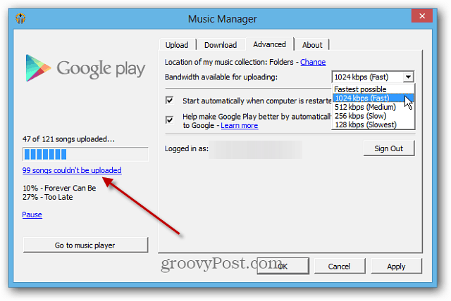 Music Manager Options