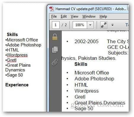 PDF Word 1