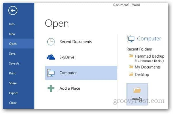 MS Word 2013 Saves Documents in DOC Instead of DOCX