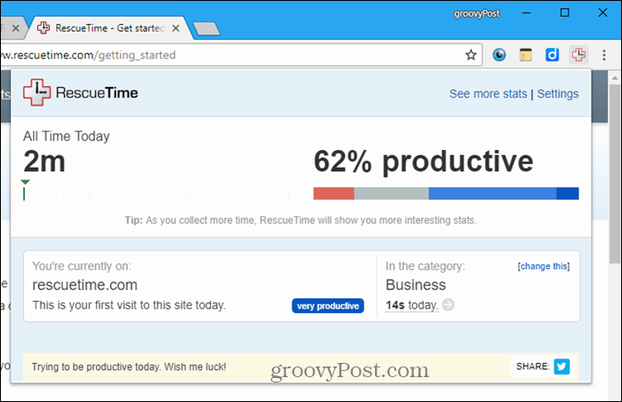 RescueTime for Chrome