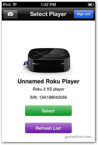 Select Roku Player