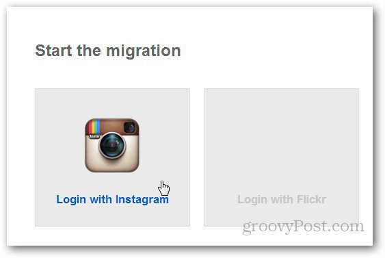 Transfer Instagram to Flickr