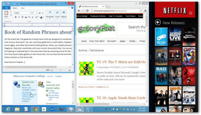 Uber Windows 8 Multitask