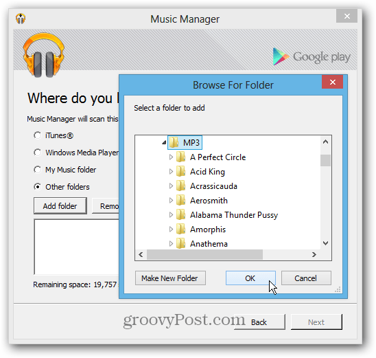 Upload Music Google Music manager from Server