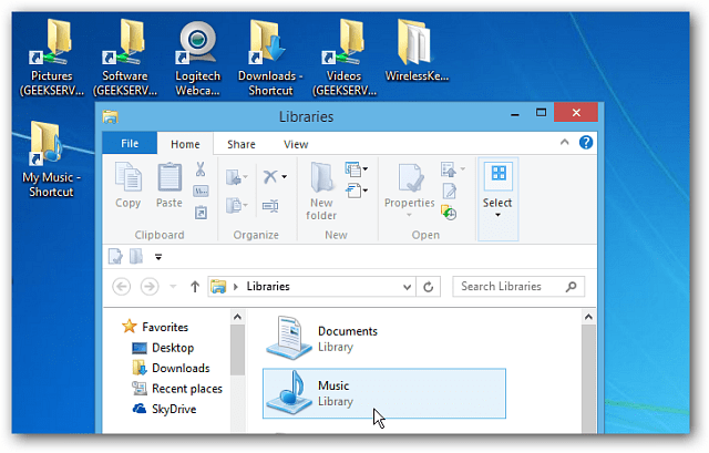Windows 8 Desktop Explorer