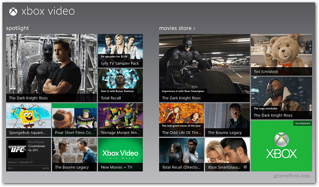 Xbox Video Windows 8 app