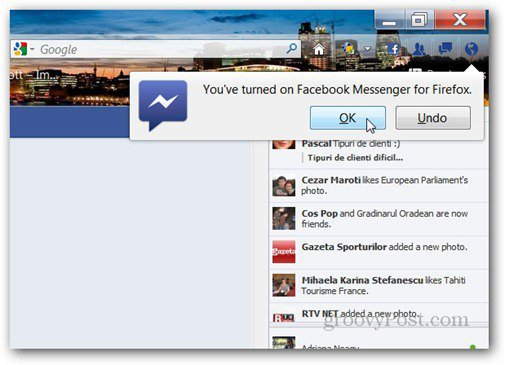 facebook messenger for firefox notification