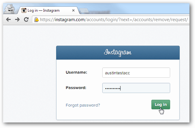 delete instragram account